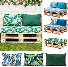 Bedruckt Wasserfest Palette Möbel Sitz & Zurück Kissen, Erhältlich in 3 Entwürfe - Blau, Back Cushion