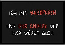 Bedruckte Fun-Fußmatte mit Spruch - Ich bin