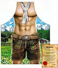 bedruckte Fun Grill Schürze - Motiv: Alpenmodel