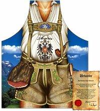 bedruckte Fun Grill Schürze - Motiv: Austria Mann