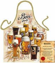 bedruckte Fun Grill Schürze - Motiv: Beer Garden - Spaß Grill Kochschürze Weihnachten Motivschürze Tracht Nikolaus Küche