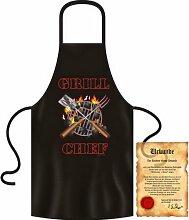 bedruckte Fun Grill Schürze - Motiv: Grill Chef -