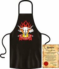bedruckte Fun Grill Schürze - Motiv: Meat - Fire
