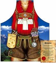 bedruckte Fun Grill Schürze - Motiv: Schweizer