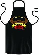 bedruckte Geburtstag Grillschürze Barbecue King 1974 - 40 Jahre Geschenk Grill Schürze Kochschürze Latzschürze Partyschürze