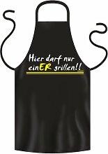 bedruckte Grillschürze Hier darf nur einER grillen - Geburtstag Geschenk Grill Schürze Kochschürze Latzschürze Partyschürze Küche