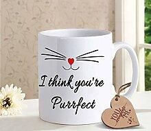 Bedruckte Kaffeetasse für Ehefrau, Ehemann,
