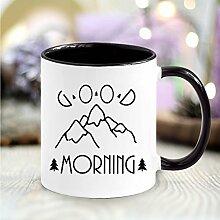 """Bedruckte Keramiktasse 2farbig """"Good Morning"""""""