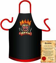 bedruckte Spaß Grillschürze - Motiv: BBQ King 1