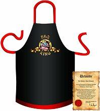 bedruckte Spaß Grillschürze - Motiv: BBQ King 2