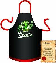 bedruckte Spaß Grillschürze - Motiv: Mojito -