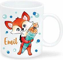 Bedruckte Tasse mit Wunschnamen, personalisierbar,