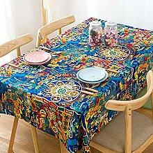 Bedruckte Tischdecke,südostasiatischer