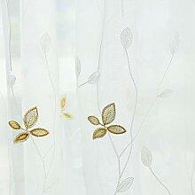 Bedruckter Voile-Vorhang, weiße Gardinen mit