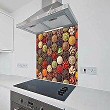Bedrucktes Küchenglas mit Spritzschutz aus