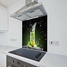 Bedrucktes Küchenglas mit Spritzschutz,