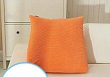 Bedside Big Backrest Triangle KissenWaist Kissen Sofa KissenPillowPillow Large ( Farbe : A1 , größe : 48*48*28cm )