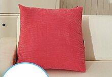 Bedside Big Backrest Triangle KissenWaist Kissen Sofa KissenPillowPillow Large ( Farbe : A6 , größe : 58*48*28cm )