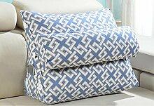Bedside Big Triangle Kissen Soft Bag Schwimmende Fenster Kissen Sofa Kissen Kissen Büro Taille Zurück Pad Pad Taille Kissen ( Farbe : C3 , größe : 60*25*50cm )