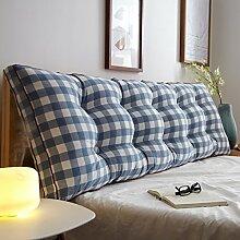 Bedside Kissen Baumwollbettsofa Große Kissen Bett Rückenlehne Positionierung Stützkissen Baumwolle langes Kissen ( Farbe : E , größe : 200*15*50cm )