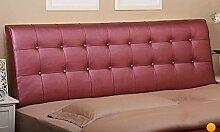 Bedside Kissen Bedside Soft Bag Doppelbett Leder Nachttisch Kissen Kissen Große Rückenlehne Bett Abdeckung ( Farbe : A1 , größe : 0.9m )