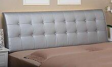 Bedside Kissen Bedside Soft Bag Doppelbett Leder Nachttisch Kissen Kissen Große Rückenlehne Bett Abdeckung ( Farbe : A4 , größe : 1.8M )