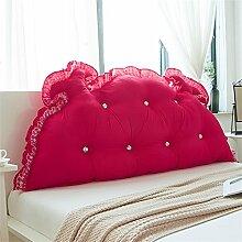 Bedside Kissen Bett Rückenlehne Prinzessin Zimmer Kissen Doppelkissen weich ( Farbe : Rot , größe : 100*65cm )