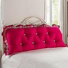 Bedside Kissen Bett Sofa Baumwolle Rückenlehne Lange Kissen Soft Tasche Bett Rückenlehne Positionierung Support Kissen ( Farbe : G , größe : 220*55cm )