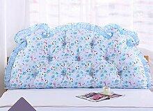 Bedside Kissen Double Back Kissen Sofa Rückenlehne Korean Style Triangular Lange Soft Pack Bett Kissen Baumwolle Taille ( Farbe : A3 , größe : 2m )