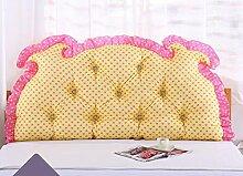 Bedside Kissen Double Back Kissen Sofa Rückenlehne Korean Style Triangular Lange Soft Pack Bett Kissen Baumwolle Taille ( Farbe : B6 , größe : 1m )