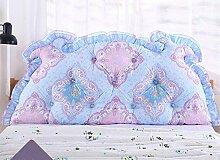 Bedside Kissen Double Back Kissen Sofa Rückenlehne Korean Style Triangular Lange Soft Pack Bett Kissen Baumwolle Taille ( Farbe : B4 , größe : 2m )