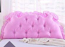 Bedside Kissen Double Back Kissen Sofa Rückenlehne Korean Style Triangular Lange Soft Pack Bett Kissen Baumwolle Taille ( Farbe : A6 , größe : 1.8M )