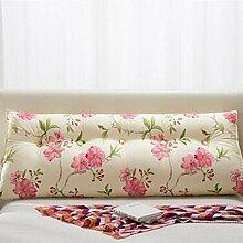 Bedside Kissen Double Soft Bed Back, Dreieck Big Kissen Sofa Taille Taille PillowLong Kissen ( Farbe : A2 , größe : 100*22*50cm )
