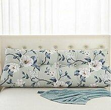 Bedside Kissen Double Soft Bed Back, Dreieck Big Kissen Sofa Taille Taille PillowLong Kissen ( Farbe : A5 , größe : 120*22*50cm )