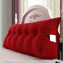 Bedside Kissen Double Soft Bed Back, Dreieck Big Kissen Sofa Taille Taille PillowLong Kissen ( farbe : A5 , größe : 135*22*50cm )