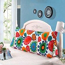 Bedside Kissen Double Soft Bed Back, Dreieck Big Kissen Sofa Taille Taille PillowLong Kissen ( farbe : B3 , größe : 100*22*50cm )