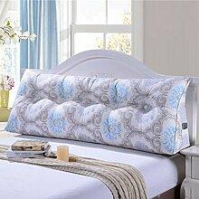 Bedside Kissen Double Soft Bed Back, Dreieck Big Kissen Sofa Taille Taille PillowLong Kissen ( Farbe : B1 , größe : 60*22*50cm )