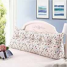 Bedside Kissen Double Soft Bed Back, Dreieck Big Kissen Sofa Taille Taille PillowLong Kissen ( Farbe : B2 , größe : 120*22*50cm )