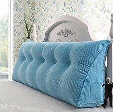 Bedside Kissen Double Soft Bed Back, Dreieck Big Kissen Sofa Taille Taille PillowLong Kissen ( farbe : A4 , größe : 120*22*50cm )