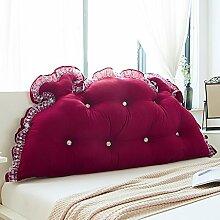 Bedside Kissen Europäische Stil Double Soft Tasche Große Bett Rückenlehne Bett Rückenlehne Pad Abnehmbare und waschbar ( Farbe : D , größe : 180*65cm )