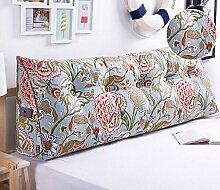 Bedside Kissen Kissen Kissen Bett zurück weichen Tasche dreieckig große Rücken Sofa Schlafzimmer zurück Kissen ( Farbe : B4 , größe : 120*50*20cm )