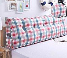 Bedside Kissen Kissen Kissen Bett zurück weichen Tasche dreieckig große Rücken Sofa Schlafzimmer zurück Kissen ( Farbe : A4 , größe : 50*50*20cm )