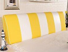 Bedside Kissen Rückenlehne Kissen Bedside Soft Tasche Matratze Bett Double Leather Large Kissen ( Farbe : # 3 )