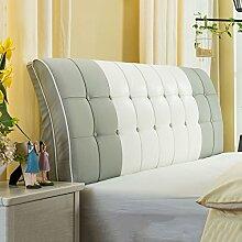 Bedside Kissen Soft Beutel Bett Großes Rückenlehnen Kissen Bett Abdeckung Rücken Unterstützung ( Farbe : A , größe : 120*60cm )