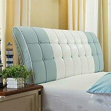 Bedside Kissen Soft Beutel Bett Großes Rückenlehnen Kissen Bett Abdeckung Rücken Unterstützung ( Farbe : E , größe : 180*60cm )
