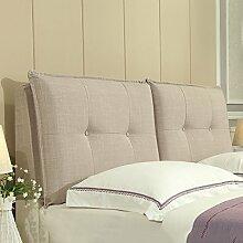 Bedside Kissen Tuch Bett Rückenlehne Positionierung Support Kissen Schlafzimmer Bett weichen Tasche Abnehmbare und waschbar Haben Bedside Optionen ( Farbe : Having bedside-F , größe : 150*60cm )