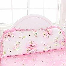 Bedside Kissen weiche Tasche Große Rückenlehne Kissen Bettdecke (14 Farben erhältlich) ( Farbe : C , größe : 200*55cm )