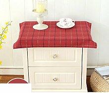 Bedside-tischdecke simple modern dust cover tuch staub abdeckung staubschutz handtuch multi-pupose serviette kleine tischdecke-G 85x85cm(33x33inch)