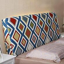 Bedside weiche Tasche Baumwolle Kissen große Rückenlehne Doppelbett Haube Bett Kissen Rückenlehne abnehmbar ( Farbe : 2# , größe : 10*60*150cm )