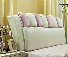Bedside Weiche Tasche Bett Kissen Große Rückenlehne Thicker High-Density Foam Pillow ( Farbe : # 4 )